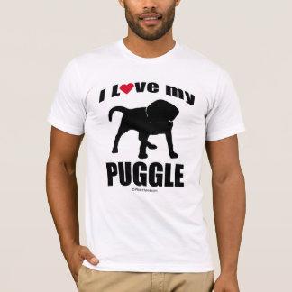 """DOG BREED"" - PUGGLE - ""I LOVE MY PUGGLE"" T-Shirt"