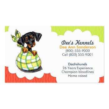 Dog Breeder Dachshund Puppy Tomato Lime Business Card