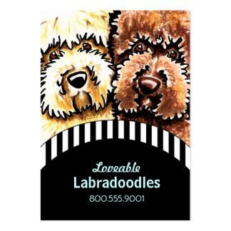 Dog Breeder Labradoodle Black Stripes Large Business Cards (Pack Of 100)
