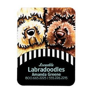 Dog Breeder Labradoodle Business Black Stripes Magnet
