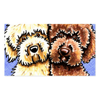 Dog Breeder Labradoodle Rescue Blue Canvas Double-Sided Standard Business Cards (Pack Of 100)