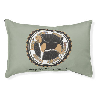 Dog Breeds Beagle Personalized Name Pet Bed