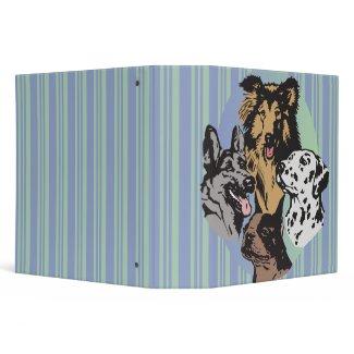 dog breeds notebook binder