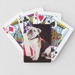 dog bulldog Navy official mascot Bicycle Playing Cards