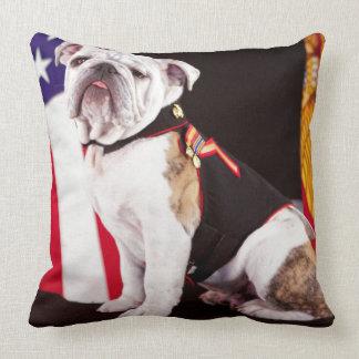 dog bulldog Navy official mascot Throw Pillow