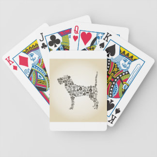 Dog business bicycle playing cards