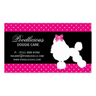 Dog Business Card Poodle Cute Polka Dot Pink