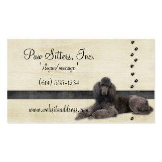 Dog Business Card :: Standard Poodle