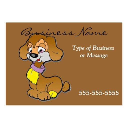 Dog business card template cartoon zazzle for Cartoon business cards