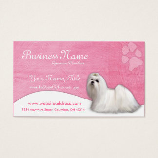 Dog Business Cards :: Maltese