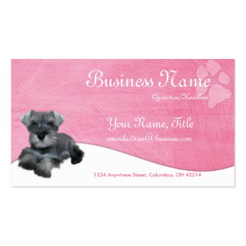 Dog Business Cards :: Miniature Schnauzer