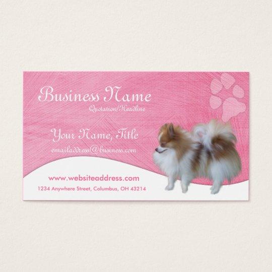 Dog Business Cards :: Pomeranian