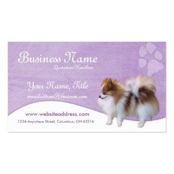 Pomeranian Business Cards :: Pomeranian D2b