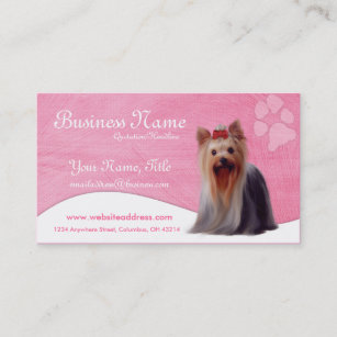 Yorkie business cards templates zazzle dog business cards yorkshire yorkie reheart Choice Image