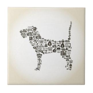 Dog business ceramic tile