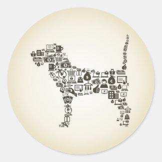 Dog business classic round sticker
