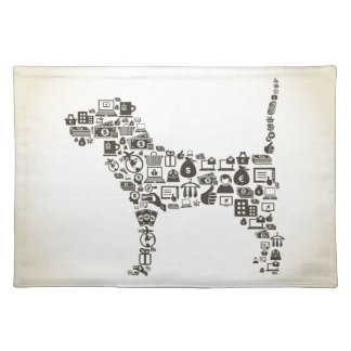 Dog business cloth placemat