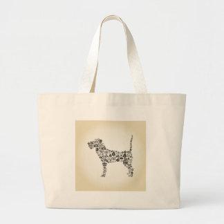 Dog business large tote bag