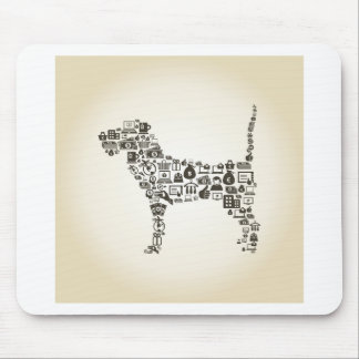 Dog business mouse pad