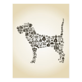 Dog business postcard