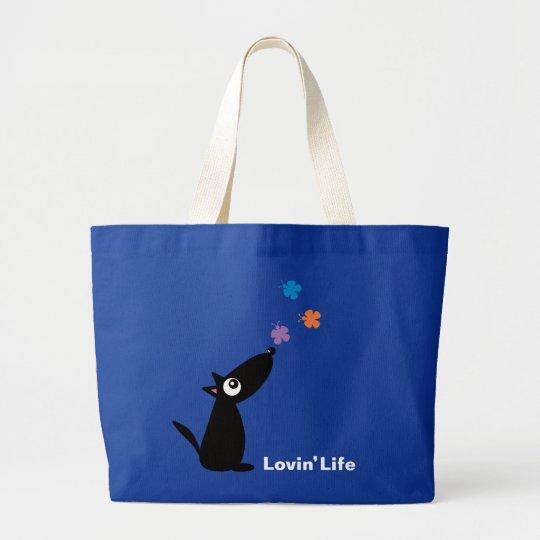 Dog & Butterflies, Lovin' Life bag