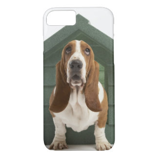 Dog by doghouse iPhone 7 case