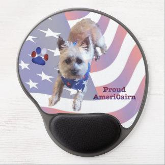 Dog Cairn Terrier America Flag Pride Gel Mouse Pad