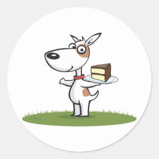 Dog Cake Classic Round Sticker