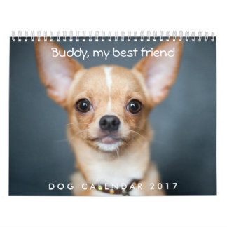 Dog Calendar 2017 Personalized Add Photo