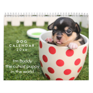 Dog Calendar 2018 Customizable Add Photo And Text