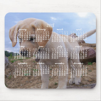 Dog Calendar 2018 Personalized Mouse Pad