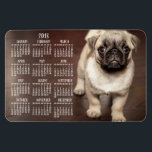 """Dog calendar 2018 Photo Large Magnet 4x6<br><div class=""""desc"""">Dog calendar 2018 (yearly) printed on large flexible photo magnet (4 inches by 6 inches) with customizable photo - you can add your photo</div>"""