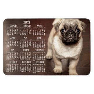 Dog calendar 2018 Photo Large Magnet 4x6
