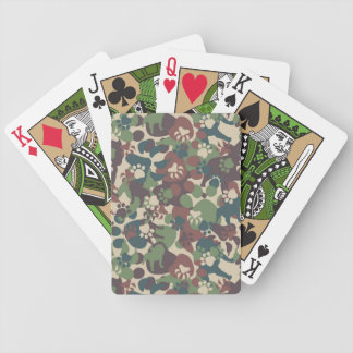 Dog Camouflage Pattern Bicycle Playing Cards