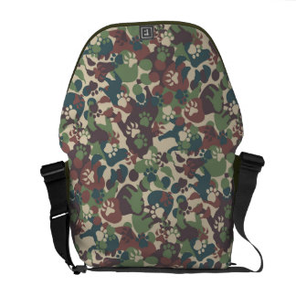 Dog Camouflage Pattern Messenger Bag