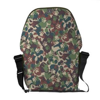Dog Camouflage Pattern Messenger Bag