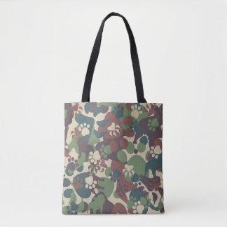 Dog Camouflage Pattern Tote Bag