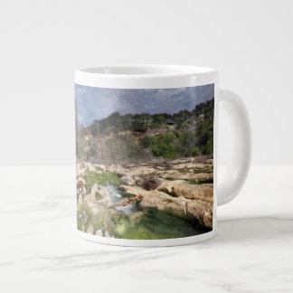 Dog Campbell's Hole Flats Barton Creek Austin Texa Large Coffee Mug