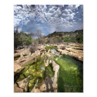 Dog Campbell's Hole Flats Barton Creek Austin Texa Photo Print