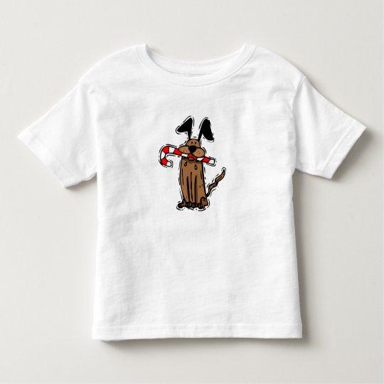 Dog Candy Cane Toddler T-shirt
