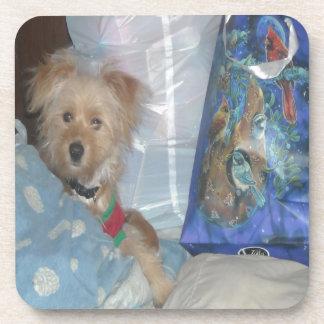 Dog Can't Wait For Santa Beverage Coaster
