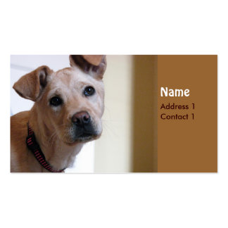 Dog card business cards