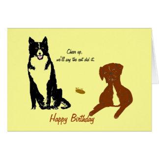 Dog card funny