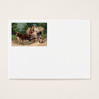Dog Carriage Children Forget Me Not Daisy Business Card