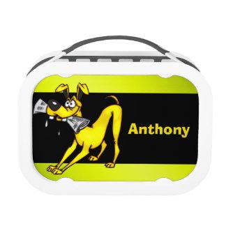 Dog Carrying Newspaper Yubo Lunch Box