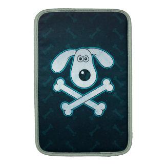 Dog Cartoon Blue Rain Bones Background MacBook Air Sleeve