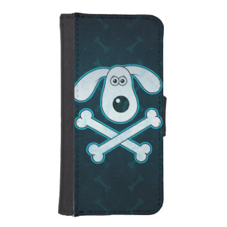 Dog Cartoon Blue Rain Bones Background iPhone SE/5/5s Wallet Case