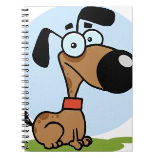 Dog cartoon character notebooks