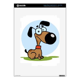 Dog cartoon character iPad 3 decals