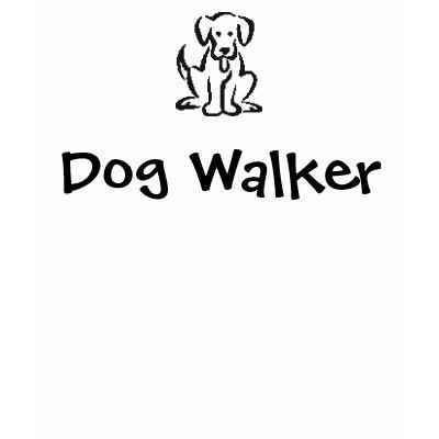 Cartoon Logo Dog Walker T-shirt